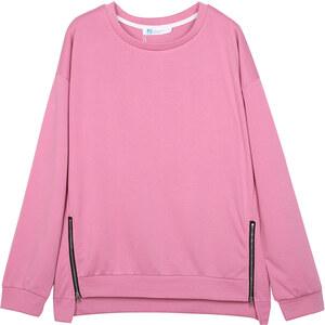 Lesara Sweater mit Reißverschluss-Details - Pink - S