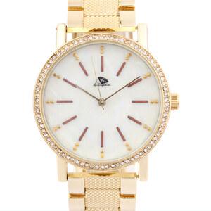 A.Angelini Armbanduhr mit Strass-Umrandung - Gold