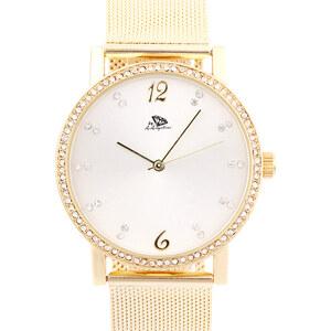 A.Angelini Armbanduhr mit Strass-Zifferblatt - Gold