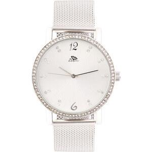 A.Angelini Armbanduhr mit Strass-Zifferblatt - Silber