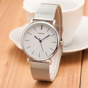 Lesara Armbanduhr im Mesh-Design - Weiß