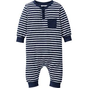 bpc bonprix collection Baby Langarm-Overall Bio-Baumwolle, Gr. 56/62-92/98 in blau für Babys von bonprix