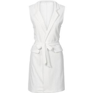 BODYFLIRT MUST-HAVE : Gilet long sans manches blanc femme - bonprix