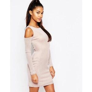 Ariana Grande For Lipsy - Robe courte à épaules dénudées et décolleté plongeant - Rose