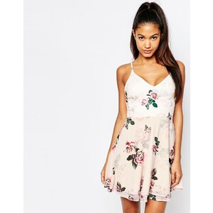 Ariana Grande For Lipsy - Robe à bretelles et imprimé roses - Multi
