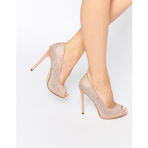 ASOS - PEARL - Chaussures peep toes à plateformes - Beige