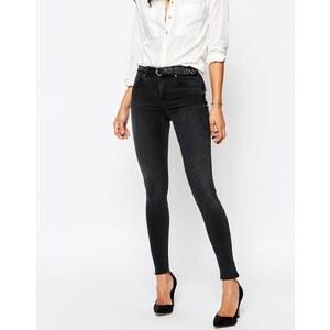 ASOS - Sculpt Me - Hochwertige Jeans in verwaschenem Brooklyn-Schwarz - Verwaschenes Schwarz