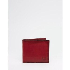 Fred Perry - Portefeuille porte-billets en cuir à motif géométrique - Noir