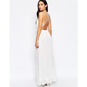 Oh My Love - Robe longue avec bretelles dans le dos - Blanc