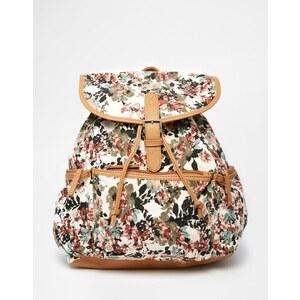 Pimkie - Rucksack mit Blumenprint - mehrfarbiges Blumenmuster
