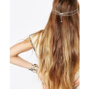 Regal Rose - BLOOMING ROSA - Schwarzer Haarschmuck mit Perlenverzierung - Silber