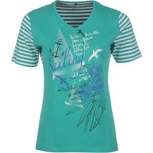 Bexleys Woman, modisches T-Shirt, Grün/Weiß, Größe XXXL