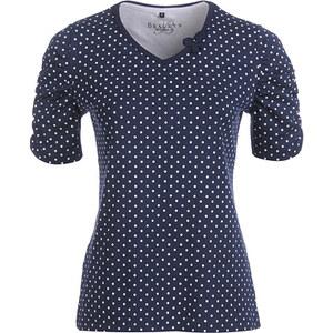 Bexleys Woman, tolles Punkte-Shirt, Marine / Weiß, Größe XXL