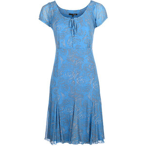 My Own, Kleid, 1/2 Arm, Brilliant Blue/Weiß, Größe 36