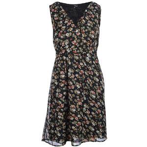 My Own, Kleid, ohne Arm, Schwarz mit Blumendruck, Größe 36