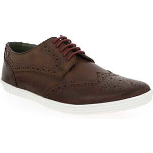 Chaussures à lacets Base London PERFORM Marron pour Homme en Cuir - Promo