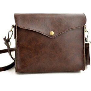 sammydress Vintage Style Women's Crossbody Bag With PU Leather and Solid Color Design