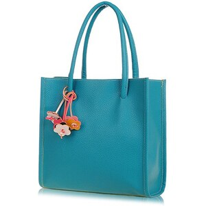 sammydress Vintage Women's Tote Bag With Flowers Pendant and Candy Color Design