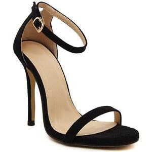sammydress Sexy Women's Sandals With Stiletto Heel and Suede Design