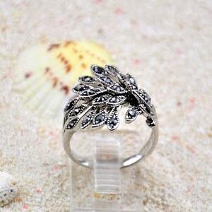sammydress Bague Élégante Pour Femmes Faux Diamant Forme de Queue de Paon