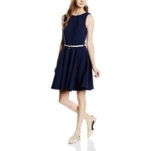 Closet Damen Kleid Flared Belted