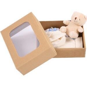 Les Bébés d Elysea Les Bébés - Coffret d'Elysea doudou bio - beige et blanc