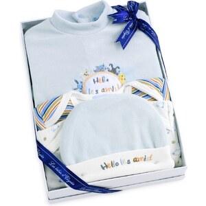 Les Bébés d Elysea Hello - Coffret cadeaux de naissance les Amis - bleu