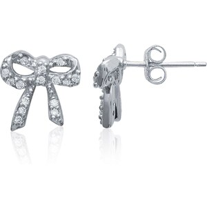 Jade & Gaspard Boucles d'oreilles nuds en argent 925 et oxyde de zirconium - argent