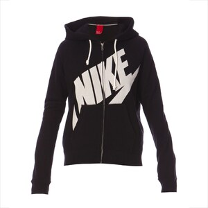 Nike RALLY FZ HOODY - Sweat - noir