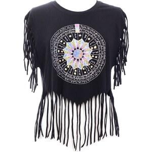 Voriagh Voyna - T-shirt festival bohème - noir
