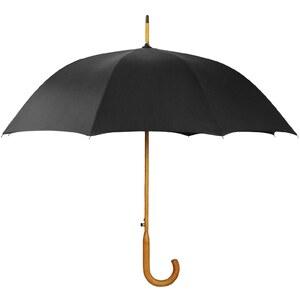 Lenger Robinson - Parapluie manche en bois - noir