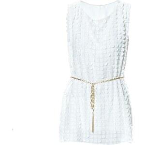 Le dressing d'Alisson Robe mini évasée - blanc