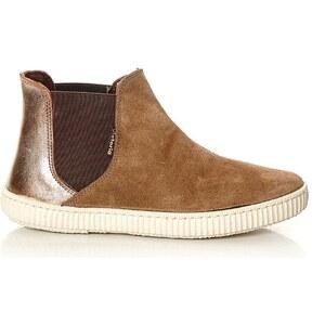Victoria High Sneakers aus Chamoisleder - braun