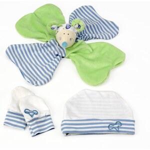 Les Bébés d Elysea Kit nouveau-né Mimi La Souris - bleu et vert