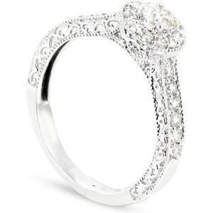 Tous mes bijoux Duos - Bague en or blanc sertie de diamants - blanc