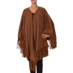 Baya Cape en laine camel