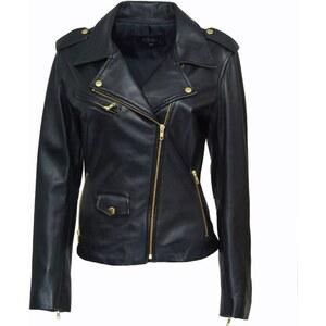 DKS Noa - Biker en cuir - noir
