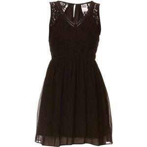 Vero Moda Kleid in Babydoll-Optik - schwarz