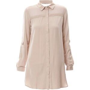 Only Kleid mit Hemdschnitt - stein