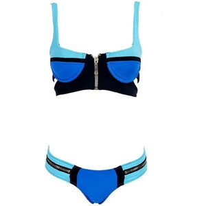 Sea Swim Maillot de bain 2 pièces - à armatures bleu et noir