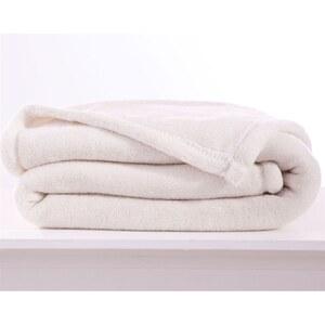 Becquet Couverture doudou 250 g/m² - blanc écru