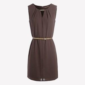 La City Kleid mit kurzem Schnitt - schokoladenbraun