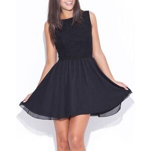 Katrus Kleid mit kurzem Schnitt - schwarz