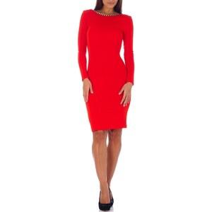 Maya Zanotti Kleid mit kurzem Schnitt - rot