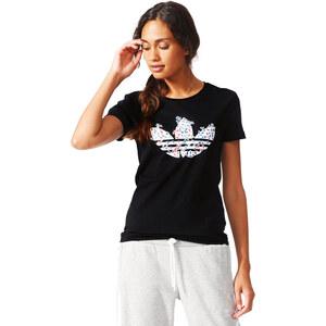 adidas Trefoil Vines W T-Shirt black