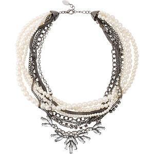 Esprit Collier à perles et pierres scintillantes