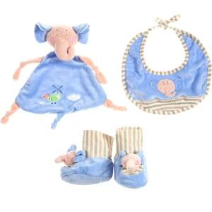 Les Bébés d Elysea Les Bébés D'Elysea - Lot cocooning bleu