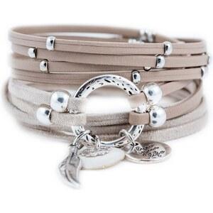 Poapo Gabriel - Bracelet en cuir - beige