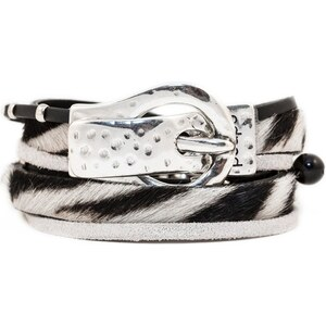 Poapo Valentin - Bracelet en cuir - noir