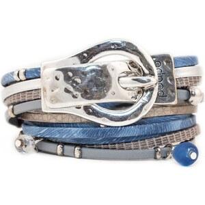 Poapo Williams - Bracelet en cuir - bleu